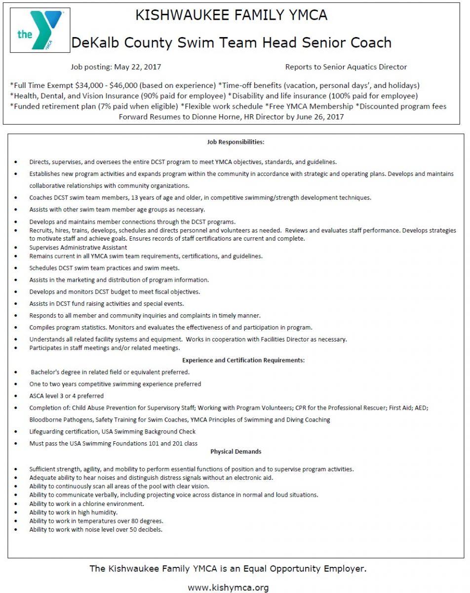 Illinois Ymca Swimming Job Postings