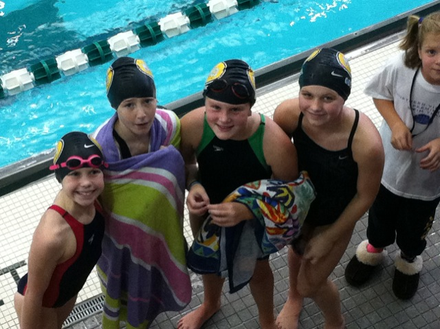 Girls 10 & Under Relay at Tom Dolan
