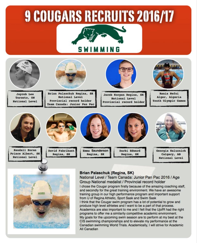 Regina Dolphins Swim Team Cougar University Of Regina