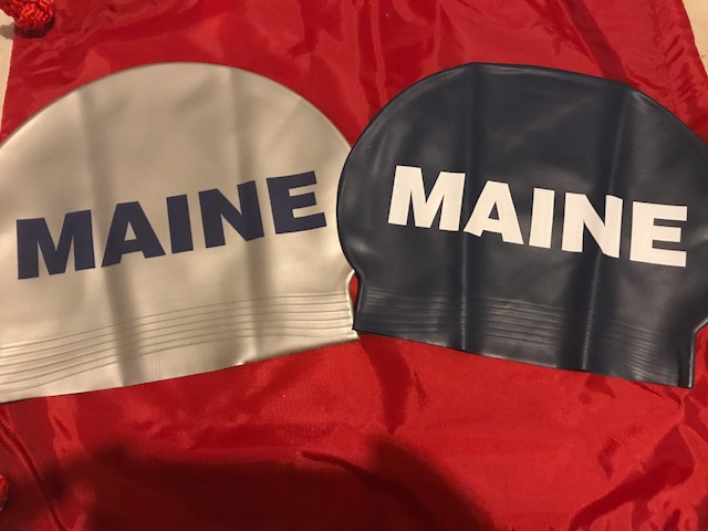 Blue and Silver Maine Latex Caps $5