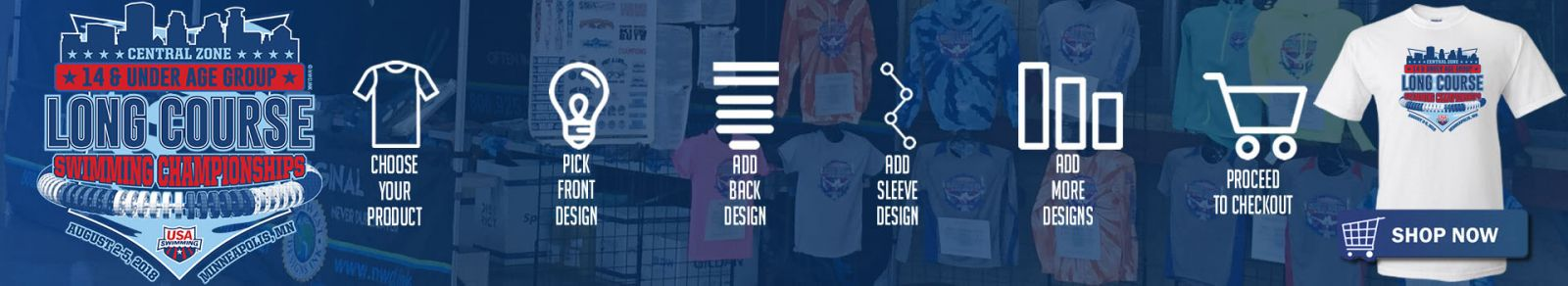 Go to the Apparel Store by clicking on this banner: