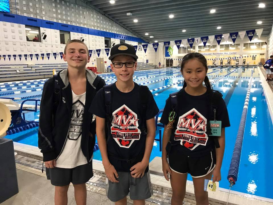 Grayden, Blake & Lydia at 14&u Central Zone Championships 2017
