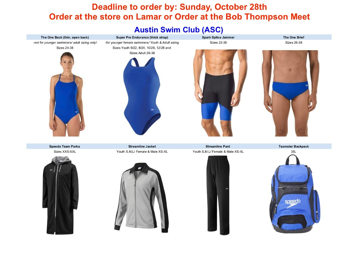 6d181b4cff ASC Team Suits, Parkas, Warmups and Team Bags are currently available for  order through Swim Freak.